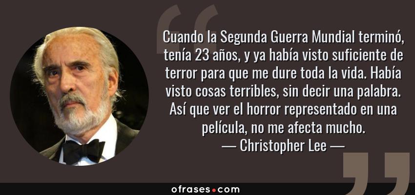 Frases Y Citas Célebres De Christopher Lee