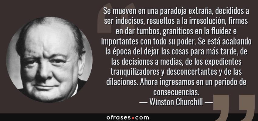 Winston Churchill Se Mueven En Una Paradoja Extraña