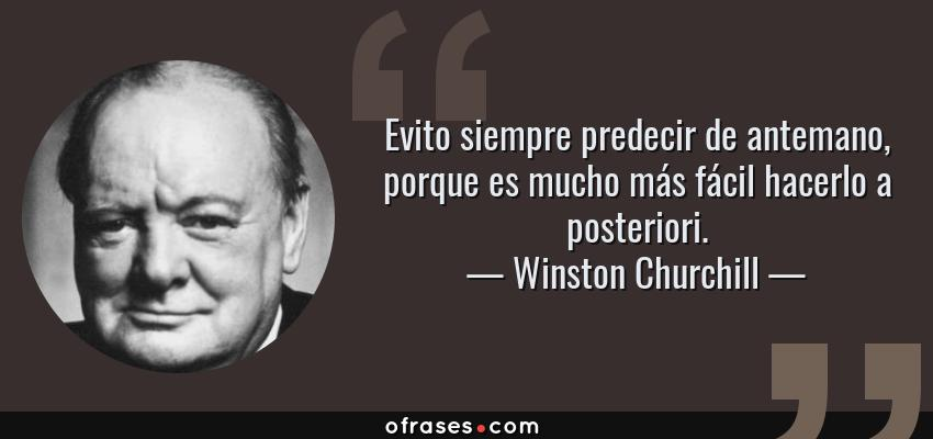 Winston Churchill Evito Siempre Predecir De Antemano