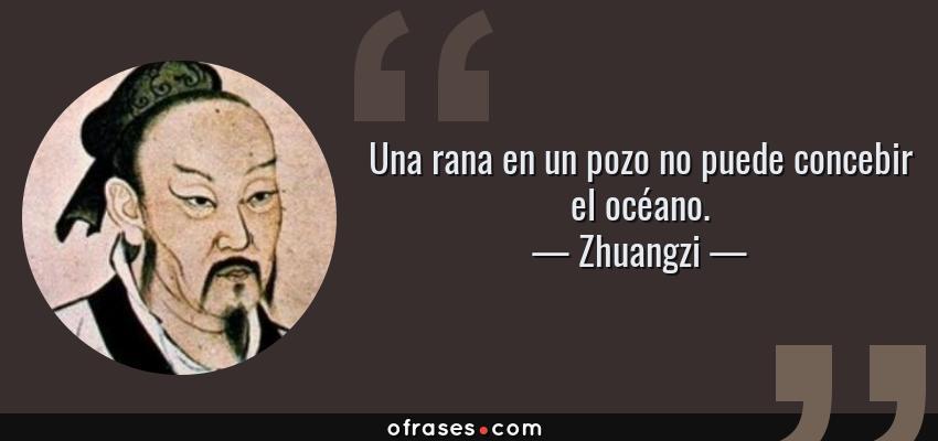 Frases de Zhuangzi - Una rana en un pozo no puede concebir el océano.