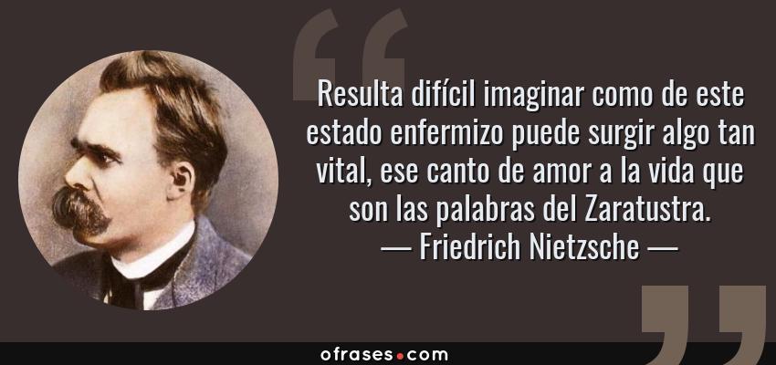 Friedrich Nietzsche Resulta Difícil Imaginar Como De Este