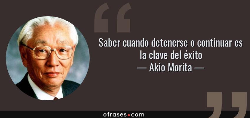 Frases Y Citas Célebres De Akio Morita