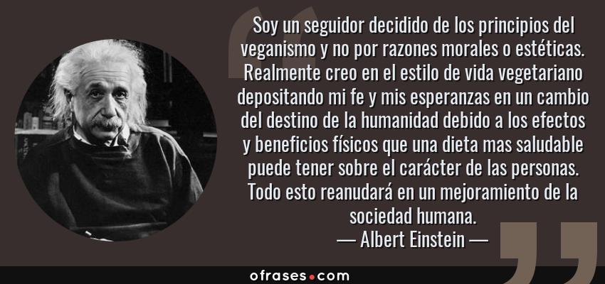 Albert Einstein Soy Un Seguidor Decidido De Los Principios