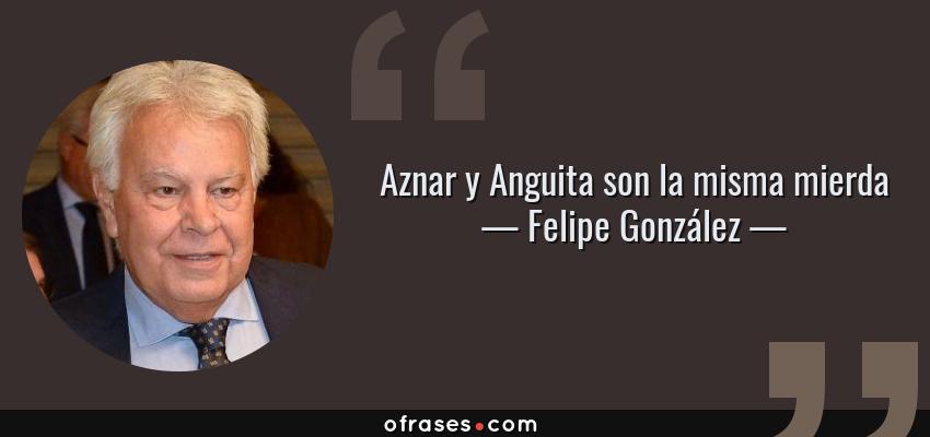 Frases de Felipe González - Aznar y Anguita son la misma mierda