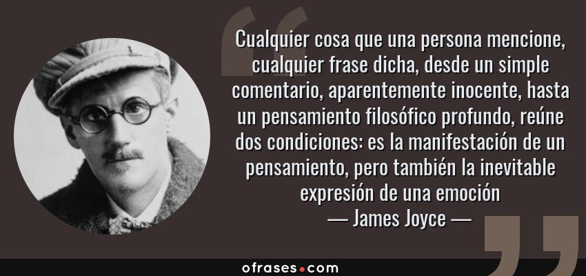 James Joyce Cualquier Cosa Que Una Persona Mencione