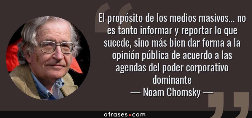 Frases Y Citas Célebres De Noam Chomsky