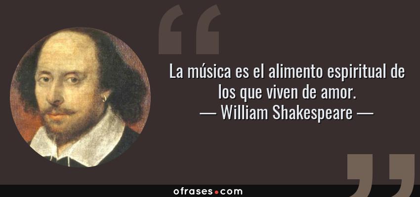 William Shakespeare La Música Es El Alimento Espiritual De