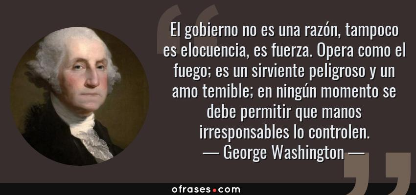 Frases Y Citas Célebres De George Washington