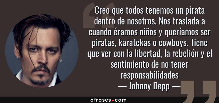 Johnny Depp Creo Que Todos Tenemos Un Pirata Dentro De