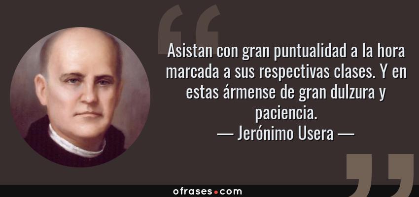 Jerónimo Usera Asistan Con Gran Puntualidad A La Hora