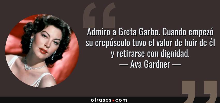 Ava Gardner Admiro A Greta Garbo Cuando Empezó Su