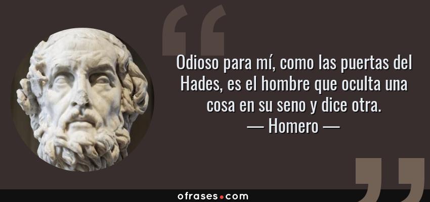 Frases y citas clebres de Homero