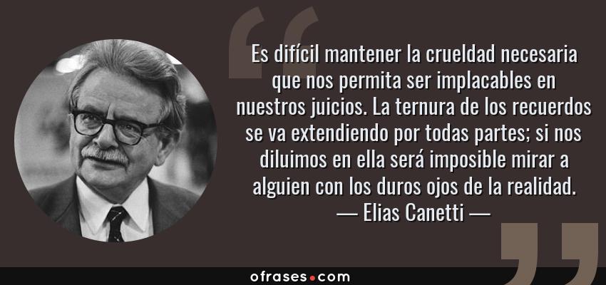 Frases Y Citas Célebres De Elias Canetti