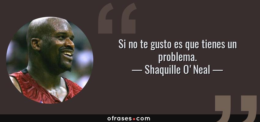 Frases de Shaquille O'Neal - Si no te gusto es que tienes un problema.
