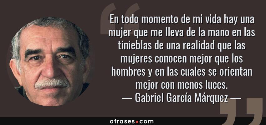 Gabriel García Márquez En Todo Momento De Mi Vida Hay Una