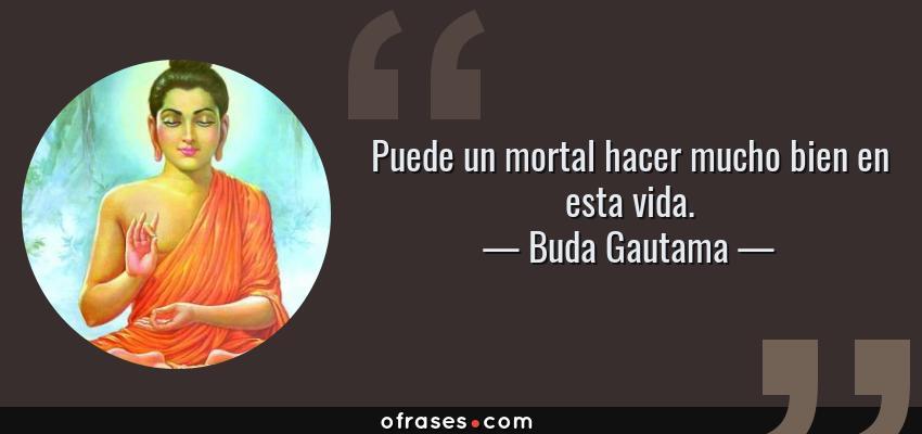 Buda Gautama Puede Un Mortal Hacer Mucho Bien En Esta Vida