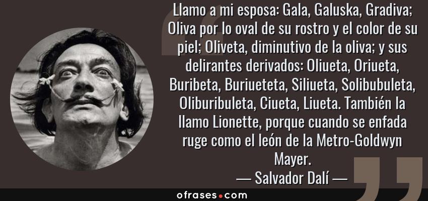 Salvador Dalí Llamo A Mi Esposa Gala Galuska Gradiva