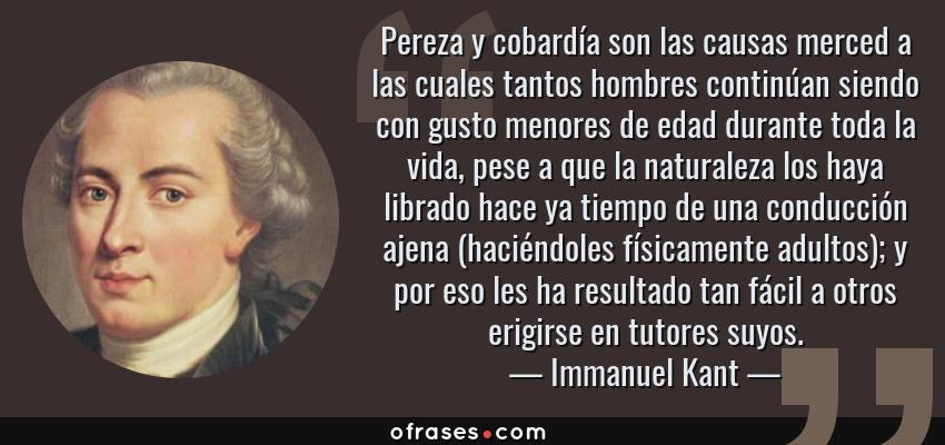 Frases Y Citas Célebres De Immanuel Kant